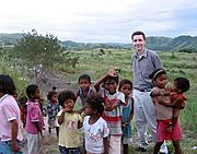 Native Children with American, the Philippines