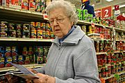Grandmother Doing Grocery Shopping
