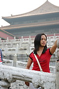 Filipina Visiting the Forbidden City, Beijing, China