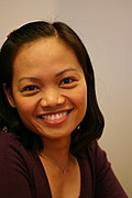 Young Filipina Woman Smiling (Interior)
