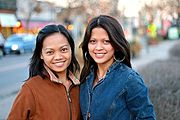 Two Young Filipina Women in Minneapolis
