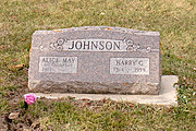 Gravestone for Alice and Harry Johnson