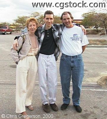 Linda, Chris and Marc in California