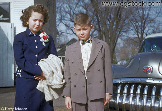 1950s Kids Dressed Up