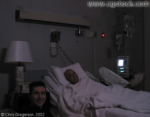 Chris and Marc at UCLA Medical Center