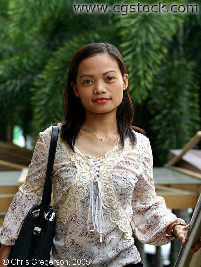 Attractive Filipina Woman in Makati, Manila