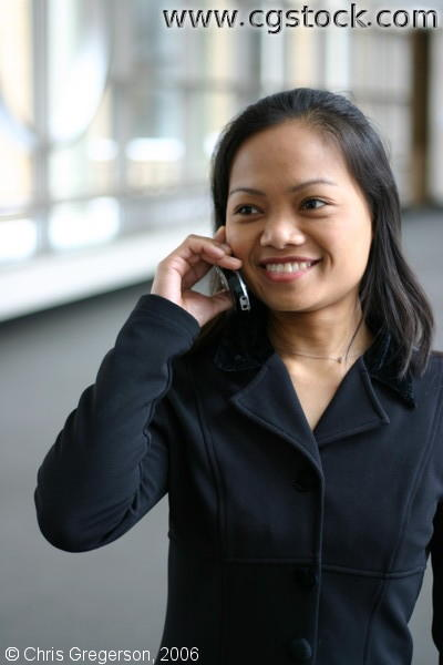 Businesswoman on Cell Call