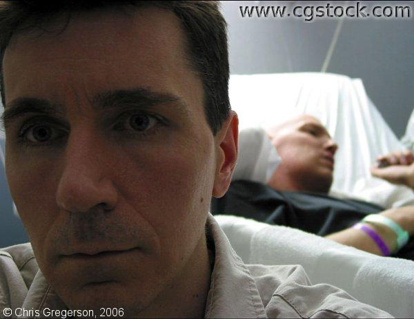 Patient and Family Member in Hospital Room