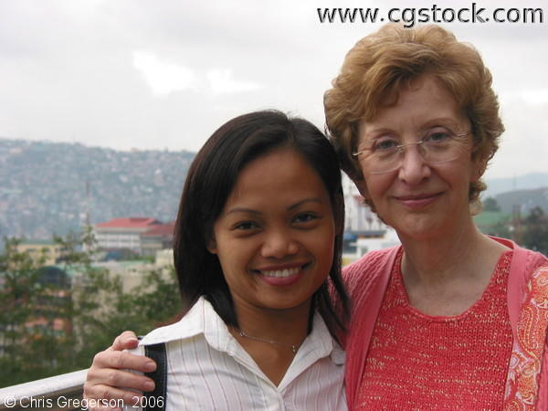 Close Up of Arlene and Linda in Baguio City
