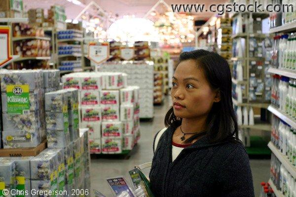 Arlene shopping at Menard's store, a very large hardware store in Minneapolis, MN, USA