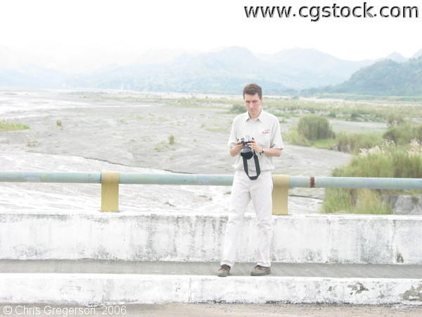 Photographer on Sacobia Bridge, Clark Economic Zone, Angeles City