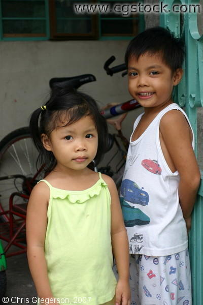 Young Filipino Siblings, Bacoor, Cavite