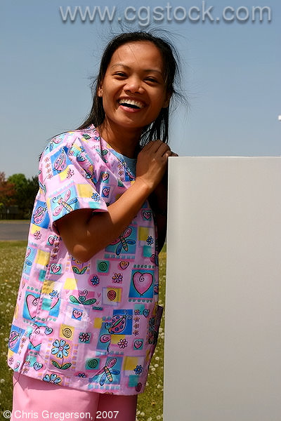 CNA Applicant Smiling After Completing her Certification