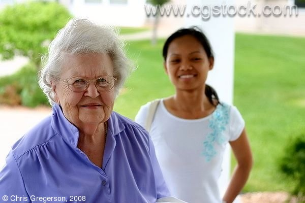 Grandmother and Young Asian Woman