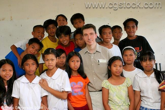 Chris at Siteo Pader Elementary School