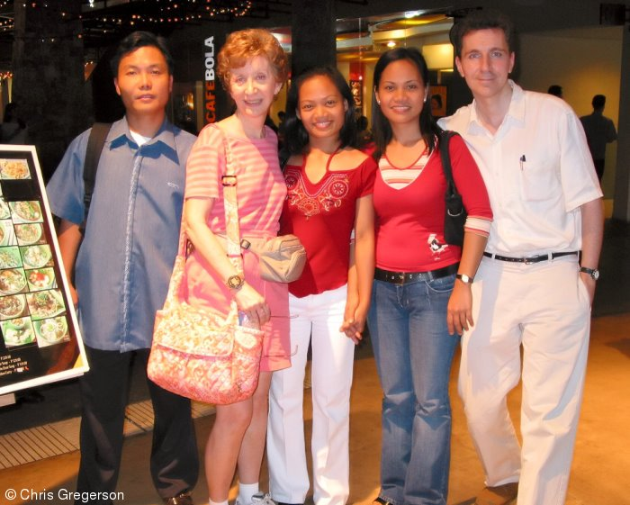 Corpuz Siblings with Chris Gregerson and Mother, Manila