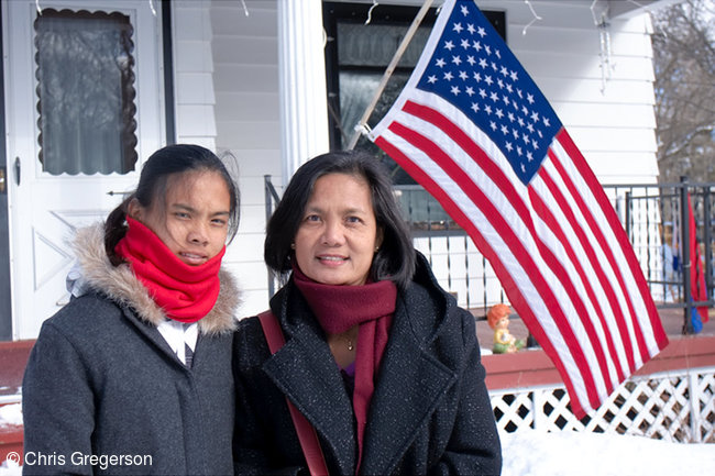 Marinette Corpuz and Josie Rahon in New Richmond, WI.